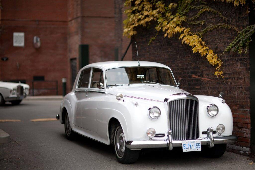 1961 Bentley S2 in front of brick wall